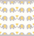 cute seamless elephants wallpaper pattern vector image