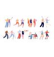 elderly people activities seniors sport healthy vector image vector image