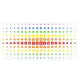 first aid kit spectrum halftone grid vector image vector image