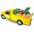fruit truck vector image vector image