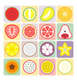 fruits and vegetables icons set 2 vector image vector image
