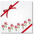gift box with a red bow vector image
