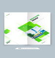 green brochure cover template layout design vector image vector image