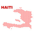 haiti map - mosaic of lovely hearts vector image vector image