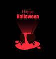 halloween witches cauldron the potion pours out vector image