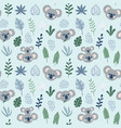 hand drawn childish seamless pattern with koalas vector image