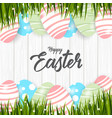 happy easter with eggs background vector image