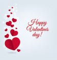 hearts postcard valentines day vector image vector image