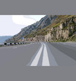 highway with markings and pedestrian crossing vector image vector image