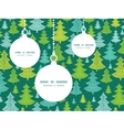 holiday christmas trees Christmas ornaments vector image vector image