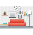 House Interior Living Room Furniture Icons Set vector image vector image