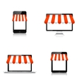 Internet shopping concept Realistic tablet vector image