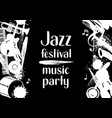 jazz festival music party grunge poster with vector image vector image