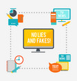 journalistic infographic design concept vector image vector image