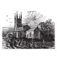 lutterworth church vintage vector image vector image