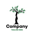modern logo tree and nature vector image vector image