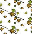 Oak pattern vector image vector image
