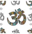 om symbol seamless pattern background vector image vector image
