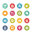 online store icons - fresh colors series vector image vector image