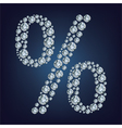 percent made from diamonds vector image vector image