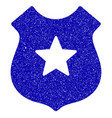 police shield icon grunge watermark vector image