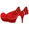Red shoe pair vector image vector image