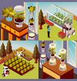 robotised farmstead design concept vector image vector image