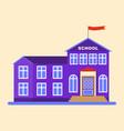 school building lilac icon vector image vector image