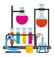scientific laboratory vector image vector image