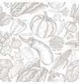 seamless pattern of natural vegetables vector image