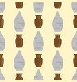 seamless pattern with antique vases background vector image vector image