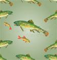 Seamless texture brook trout predator vector image vector image