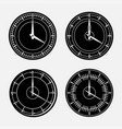 set hours clock icon 24 hour support vector image vector image
