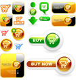 shopping button set vector image