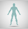 silhouette man of pixels abstract background vector image