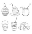 sketch food vector image vector image