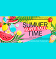 super sale banner with gourmet food vector image vector image