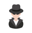 suspicious looking man with sunglasses criminal vector image vector image
