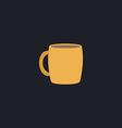 Tea cup computer symbol vector image vector image