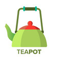 teapot kettle tea ceremony party symbol vector image vector image