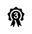 third place badge icon vector image vector image