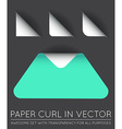 Triangle with Paper Curl with Shadow Isolated Set vector image vector image