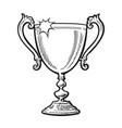 trophy winner cup vector image vector image