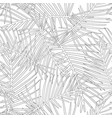 tropical leaves outline on white background vector image