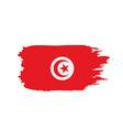 tunisia flag vector image vector image