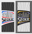 vertical layouts for seoul vector image vector image