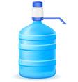 water in a plastic bottle vector image vector image