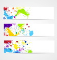 Watercolor splash banners vector image