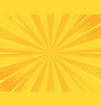yellow retro vintage style background vector image vector image