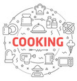 line flat circle cooking vector image